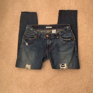 Levi's Distressed Jeans with Frayed Hem